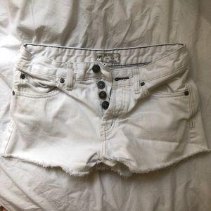 Free People Size 25 White Denim Shorts